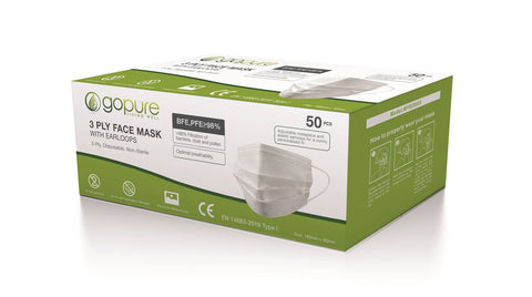 Medical Face Mask 3 Ply TGA Approved (50 pack) - NOW TAKING FORWARD ORDERS