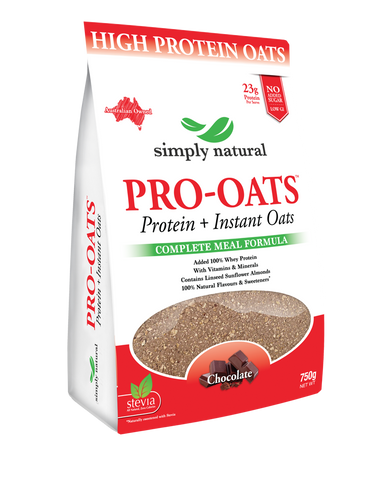 SIMPLY NATURAL PRO-OATS 750G PROTEIN+INSTANT OATS  COMPLETE MEAL FORMULA