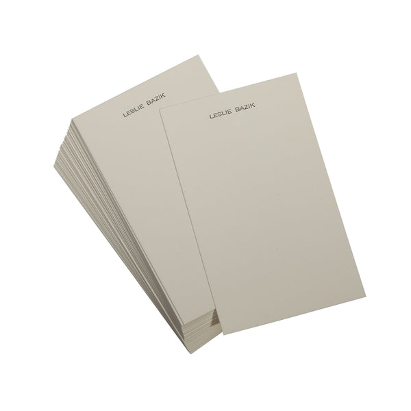 Letterpress Personalized Jotter Cards