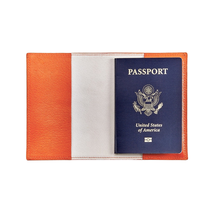 Orange Passport Holder