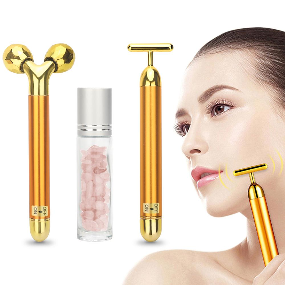 3 in 1 Energy Vibrating Facial Roller