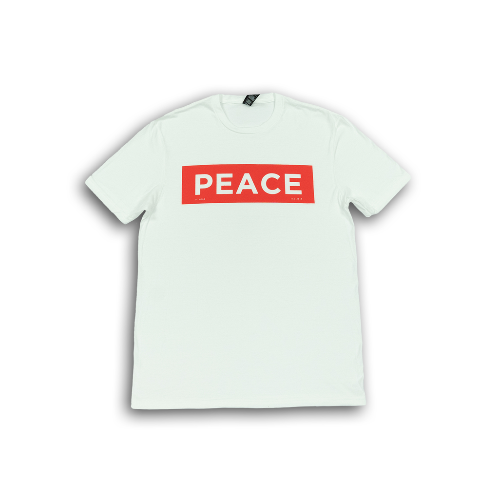 """Peace"" White T-Shirt"