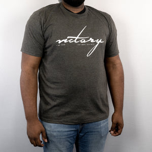 """Victory"" Dark Grey Heathered T-Shirt"