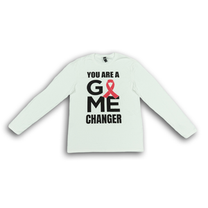 """You Are A Game Changer"" Long Sleeve White Shirt"