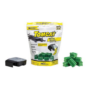 TOMCAT MOUSE KILLER BAIT STATION WITH 16 REFILLS