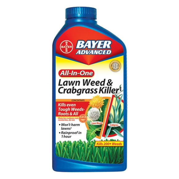 BAYER ADVANCED ALL-IN-ONE LAWN & GARDEN WEED & CRABGRASS KILLER CONCENTRATE