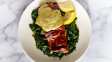 Diablo Paprika Salmon with Spinach