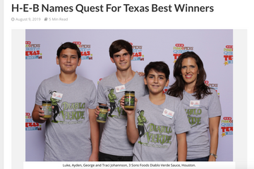 THE SHELBY REPORT - H-E-B NAMES QUEST TEXAS BEST WINNERS