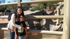 Mommy & Luke w/ his favorite animal!