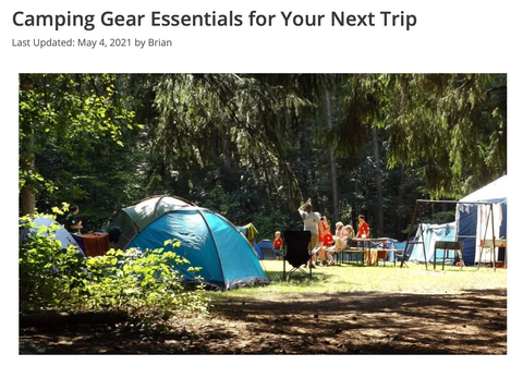 Camping Gear Essentials for Your Next Trip