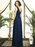 Lux Shimmer Draped Bodice Bridesmaids Dress