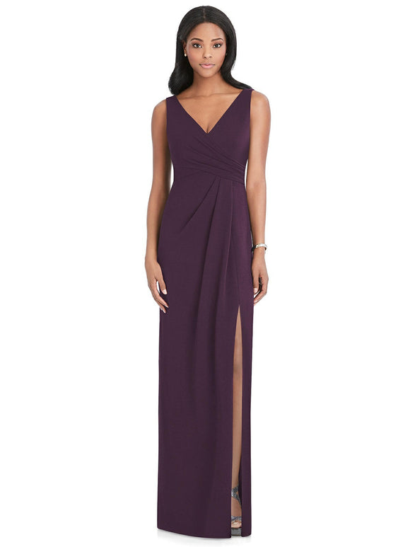 Crepe V-Neck Bridesmaids Dress