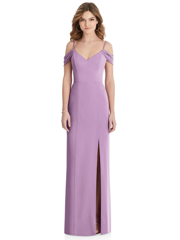 Drop Shoulder Slimline Bridesmaids Dress