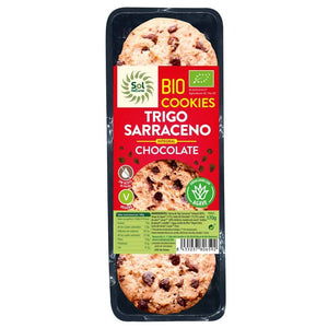 Galleta trigo sarraceno chocolate SOL NATURAL 140 gr BIO