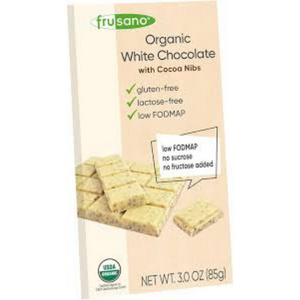Tableta chocolate blanco pepitas de cacao BIO 85 gr FRUSANO