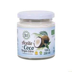 Aceite coco SOL NATURAL 200 ml BIO - Tu Vida Healthy