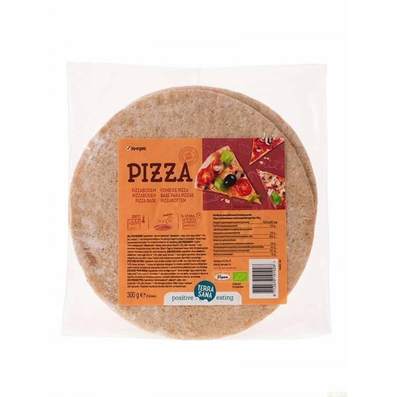 Base pizza (2 Uds.) TERRASANA 300 gr BIO - Tu Vida Healthy