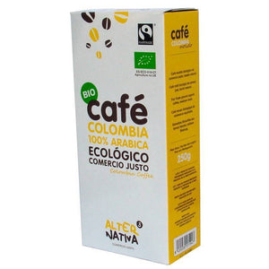 Cafe colombia molido ALTERNATIVA 3 (250 gr) BIO - Tu Vida Healthy