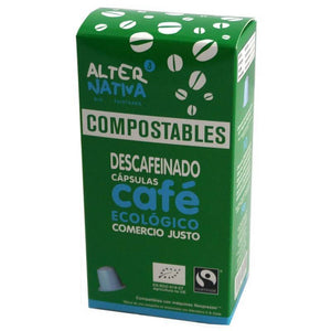Cafe descafeinado ALTERNATIVA 3 (10 capsulas COMPOSTABLES) BIO - Tu Vida Healthy