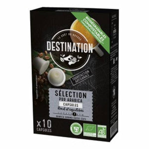 Cafe purarabica selection DESTINATION (10 capsulas COMPOSTABLES) BIO - Tu Vida Healthy