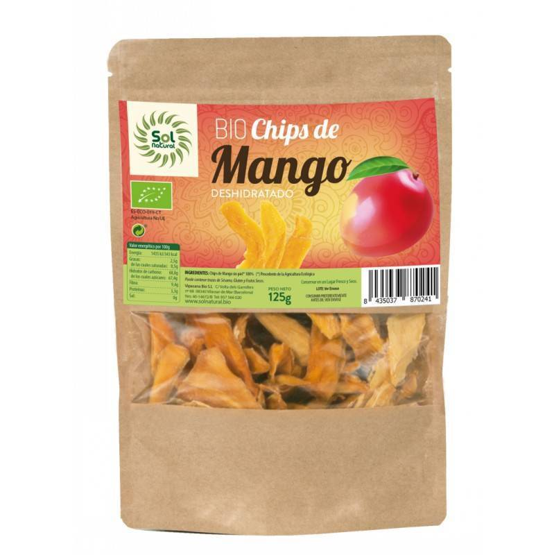 Chips mango SOL NATURAL 125 gr BIO - Tu Vida Healthy