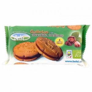 Galleta rellena chocolate avellana BELSI 70 gr - Tu Vida Healthy