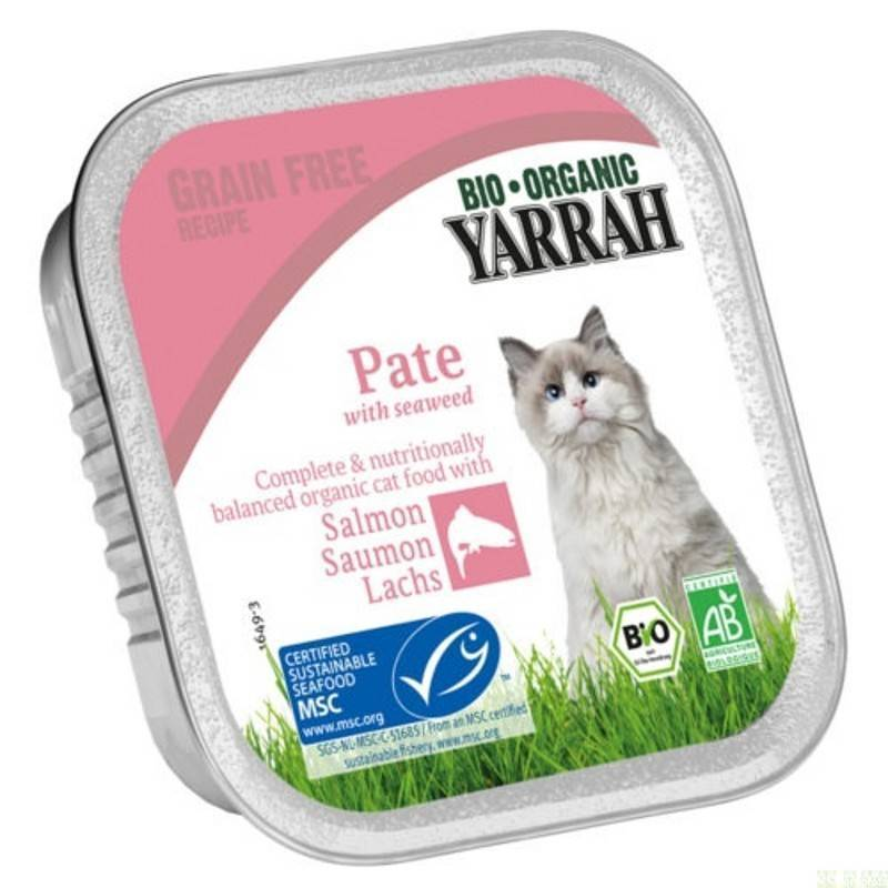 Tarrina gatos salmon YARRAH 100 gr - Tu Vida Healthy