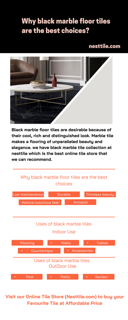 Why black marble floor tiles are the best choices?