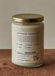 Large Candle TOBACCO CEDAR
