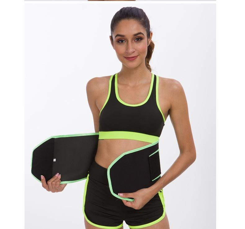 NEOPRENE Curved-Edge SBR Embossing Waist Trainer with Elastic Band
