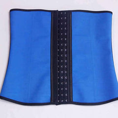 4 Steel Boned Latex Waist Trainer Corset with 3-Eye Hooks