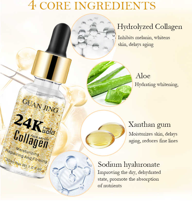 24K Gold Collagen Face Serum | Anti-Aging and Skin Repair Oil