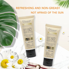 SPF 50 Natural Sun Protection Tinted Foundation Cream | Moisturizing Sunscreen Lotion
