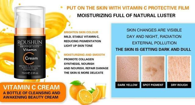Vitamin C Body Cream with Hyaluronic Acid | Anti-Aging And Brightening Cream