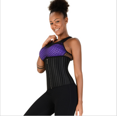 29 Steel Bone Waist Trainer with Zip and Hook (Latex)