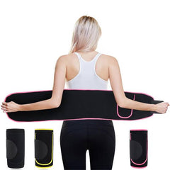 NEOPRENE Waist Trainer Belt with Pouch | Yoga Belt with Pouch