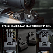 Load image into Gallery viewer, Chaos Ready Spring Loaded Backup Iron Sights