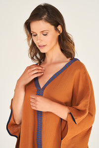 Kaftan Cinnamon mit Brown Royal-Blue