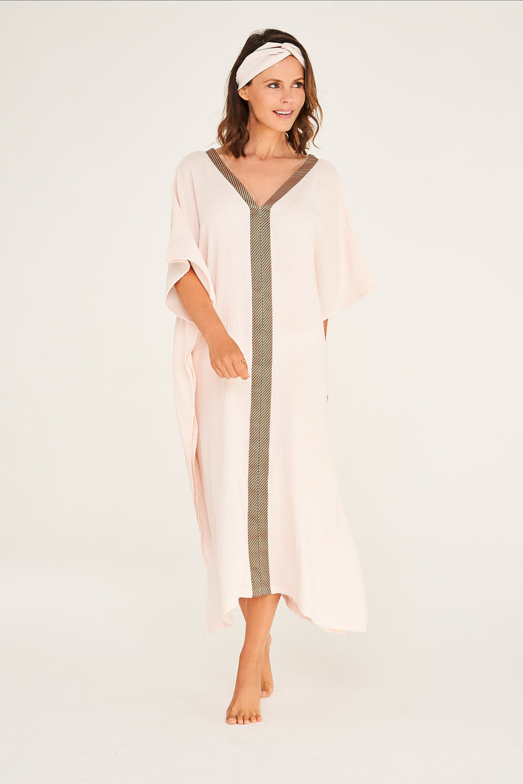 Kaftan Desert Rose mit Salmon Green