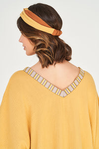 Kaftan Sand Dunes mit Brown - Pink - Yellow Tape