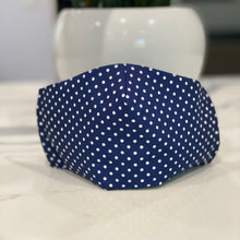 Load image into Gallery viewer, Small Polka Dots - Navy Blue