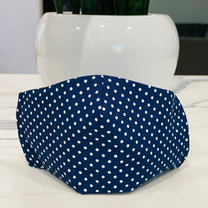 Small Polka Dots - Navy Blue
