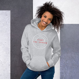 Fight The Spread White Logo - Unisex Hoodie