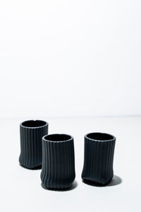 BLACK CUPS SMALL/  MANUEL KUGLER