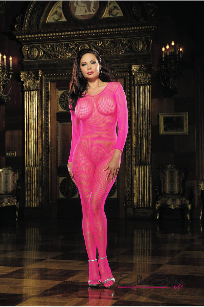 Fishnet Long Sleeved Bodystocking Queen ElleStyles