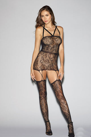 Strappy Seamless One Shoulder Garter Dress