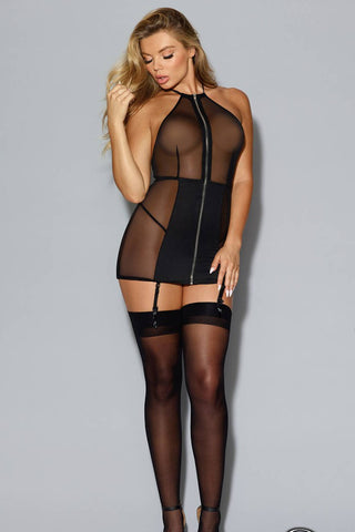 Fetish Fishnet Halter Teddy
