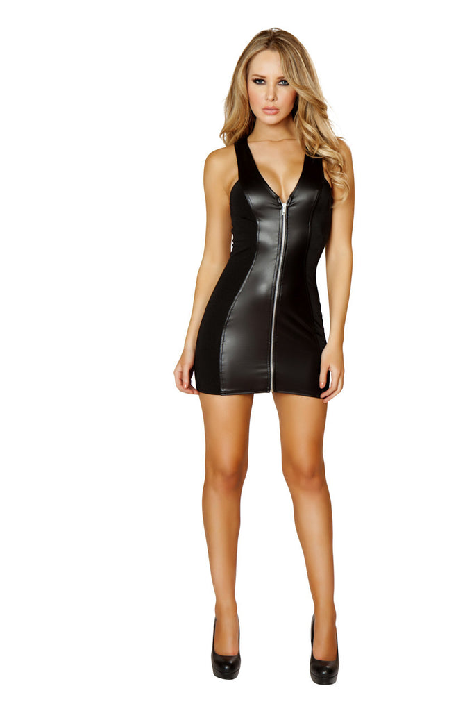 Mini Dress with Full Zip ElleStyles