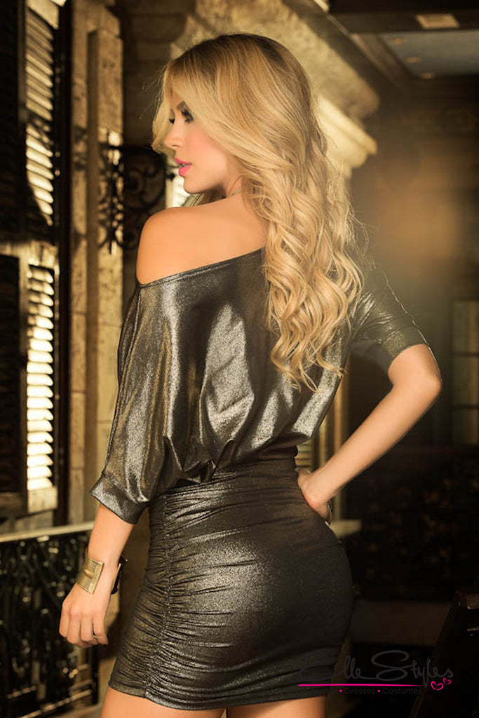 Metallic Mini Dress ElleStyles