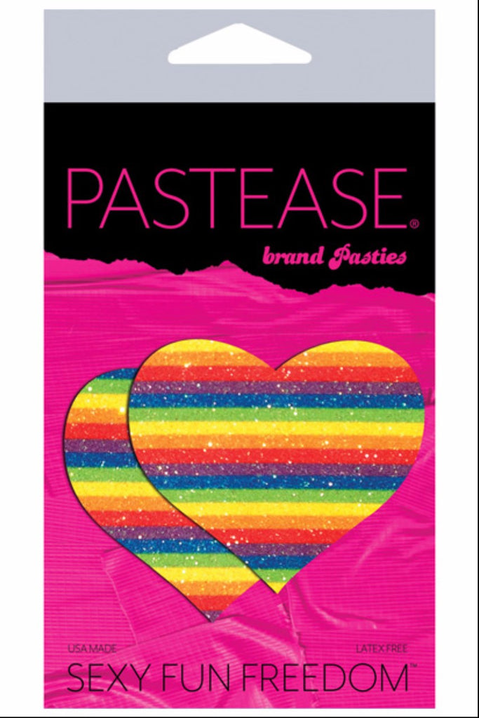 Pastease Glitter Heart Rainbow